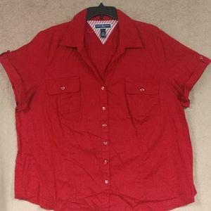Karen Scott button down blouse